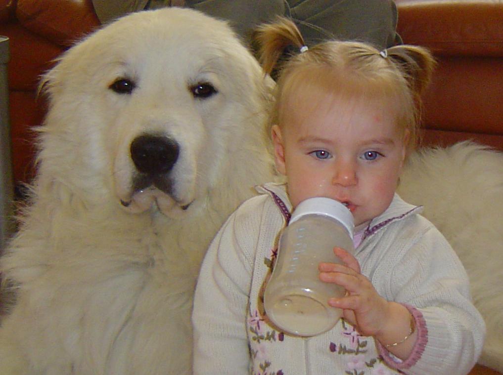 Caronne 55 kilo en Zoe 1 jaar